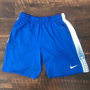 Men's Nike Royal Blue Print Basketball Shorts